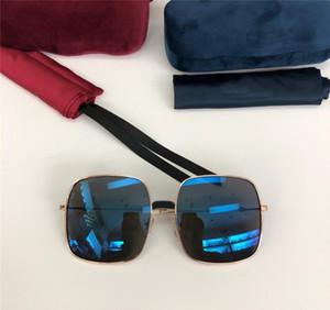 Neues Art und Weisedesigner-Sonnenbrillequadratfeld beschichtete reflektierende Linsen uv400 Schutz ultra-light eyewear Spitzenqualität 0414