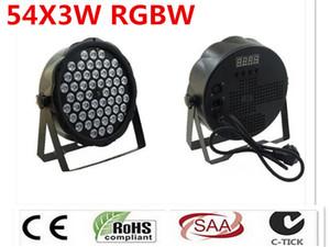 LED 54X3 W Lavado RGBW DJ LED Luz Del Disco Controlador DMX Envio Libre par açtı
