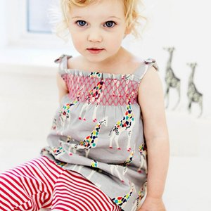 European sleeveless cute baby girls clothing sets blouse and pants 2pcs clothing for girls 18-6 years children clothing boys sets summer