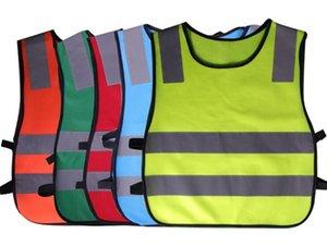 50pcs Crianças Alta Visibilidade Woking Segurança Vest Trânsito Rodoviário Trabalho colete verde reflexiva Segurança Vestuário Crianças Segurança Vest Y266 Jacket