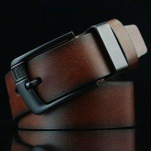 Designer Alta Uomini Per Cinture Fibbia Men Buckle Flag Mens Leather Belt Strap Pin in lega di lusso In Klhi qualità genuina 2019 Leather Bel Iwdo