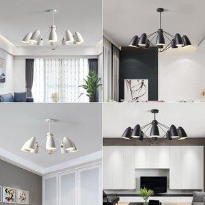İskandinav Avize Oturma Odası Yatak Odası Modern led Kolye Lambaları Yemek Odası Ev Avize Basit Siyah Çağdaş Avize ışıkları