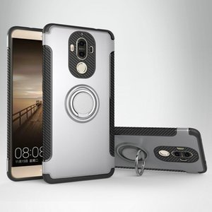 Fall für Huawei Mate9 Fall für Huawei Mate 9 Pro Cover Ring Halter Hybird Rüstung Auto Magnet Telefon