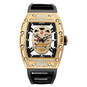 Новый 2019 Горный Хрусталь Пиратский Череп Стиль Кварцевые Мужские Часы Световой Военный Силиконовый Бренд Спортивные Часы Водонепроницаемый Relogio Masculino