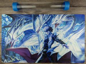 Yu-Gi-Oh! Нео голубые глаза окончательный дракон TCG Playmat бесплатно высокое качество трубки [новый] Бесплатная доставка