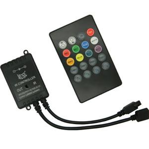 DC12V-24V LED Télécommande infrarouge du contrôleur IR à 20 touches sans batterie pour bande LED 3528 5050 RVB