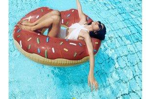 90 centimetri gigantesca ciambella nuoto estate piscina gonfiabile gonfiabile all'aperto piscina nuoto galleggiante barca fila acqua giocattolo piscina gonfiabile galleggianti piscina giocattoli