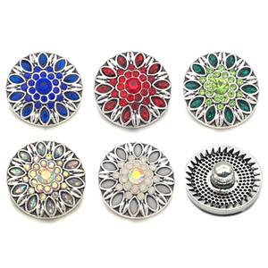 Vendita calda w337 Fiore 3D 18mm 20mm pulsante a scatto in metallo per il braccialetto Collana gioielli intercambiabili Accessorie per le donne