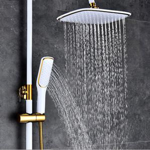 5 Estilos de oro cuadrado y negro Cabeza de ducha de cascada de color blanco Alta calidad ducha superior de mano Spray de ducha