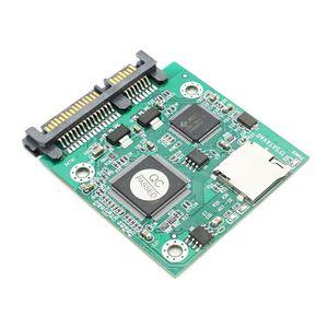 """Tarjeta Micro SD TF a una tarjeta adaptadora SATA de 22 pines 2.5 """"tarjetas hdd TF a convertidor 7 + 15 SATA"""