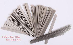 0.15mm x 3mm x 100mm 100 adet Saf Nikel Plaka Kayışı Şerit Levhalar Pil Nokta Kaynak Makinesi için 99.96% Kaynakçı Ekipmanları Araçları