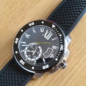 Высочайшее качество наручные часы мужская калибр de diver w7100056 черный циферблат автоматическая механическая стальная резинальная полоса мужские часы наручные часы