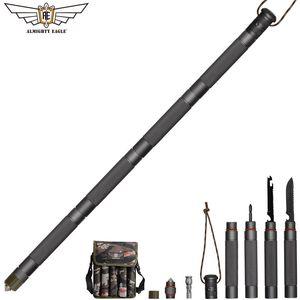 Tout-puissant défense extérieure bâton tactique Alpenstock outil de randonnée équipement de camping outils de pliage multifonctionnel armée stock C18110601
