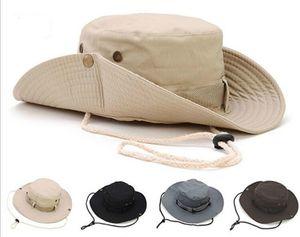 새로운 도착 캐주얼 Ourdoor Sunshade 모자 모자 Homburg 여행 낚시 웨스트 카우보이 패션 버킷 모자 남성용