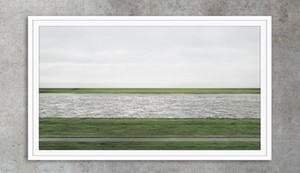 Andreas Gursky Photography Rhein ii Art Posters Imprimir Papel fotográfico 16 24 36 47 pulgadas