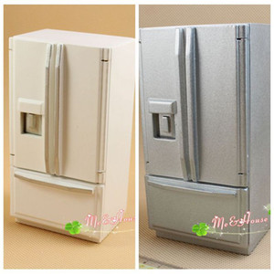 1 12 Dollhouse Miniature Fridge Refrigerator Silver Doll House Furniture
