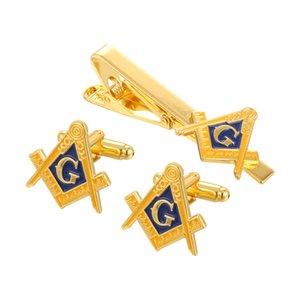 Масонская Компасы масоном Мейсон Pin и запонки и заколка для галстука Set
