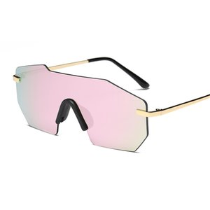 Sunglasses For Men Polarized One-piece Men and Women Sunglasses Rimless Alloy Frame Personality Driving Running Golf Sunglasses Gafas