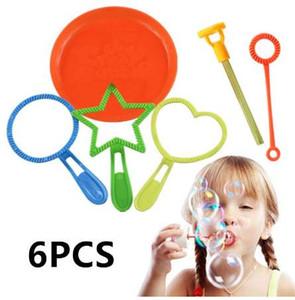 Nuevo 6 unids / lote Blowing Bubble Soap Tools Toy Bubble Sticks Set exterior Bubble Toys para niños