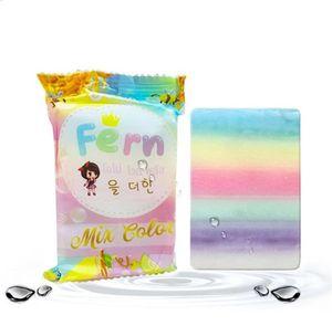 توافر العلامة التجارية الجديدة OMO Raibow Soap Mix Color Plus Five Bleached Handmade Rainbow Soap FREE DHL