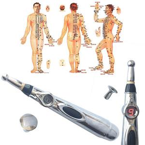 Newst Electronic Acupuncture Pen Electric Meridians Heal Massage Pen Meridian Energy Pen Alivio para el dolor Herramientas sin crema y batería