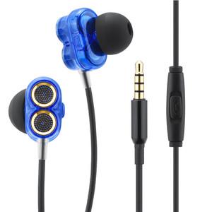 In-ear Earphone for Xiaomi Android Ear Phones Fone Double Moving Hifi With Earbuds Bass Earphones Sport In-Ear Earphone
