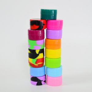Silikonölbehälter 5ml Silikon Wachs Box Multi Color-Silikon-Kasten 32mm * 18mm Reusable Container für Wachs oder DAB-Tools
