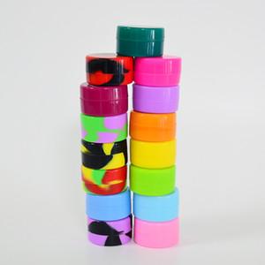 Huile silicone Container 5ml Cire silicone Boîte Multi Color Silicone Case 32mm * 18mm réutilisable Conteneur pour les outils de cire ou DAB