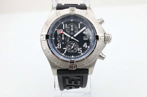 Лучшие роскошные модные мужские наручные часы шесть иглы белая стальная лента 1884 A1338111 | BC33 48 мм A1338111 | BC33 нержавеющая сталь электронный Кварта