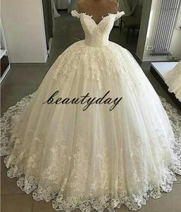 Vestidos de novia para la novia nigeriana 2019 Vintage Church A-line Vestido de novia Vestido de novia fuera del hombro Tallas grandes Cremallera espalda túnicas de mariée