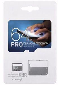 PRO 256GB 128GB 64GB 32GB Micro Cartão de memória TF SD High Speed Class 10 para telefones câmeras inteligentes