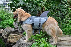 Pet Dog Shark Life Jacket Safety Clothes For Dog Life Vest Summer Clothes Saver Swimming Preserver Swimwear Dog Life Jacket
