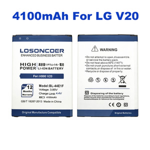 wholesale 4100mAh High Capacity BL-44E1F Battery For LG V20 Battery H990 F800 VS995 US996 LS997 H990DS H910 H918 Stylus3 M400DY