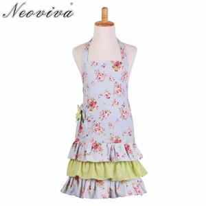 Neoviva Flirty Child Tablier pour Enfant Filles avec Poche, Style Little Doris, Floral Ballad Bleu Womens Tabliers Chef Vestidos Schort