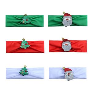 Moda Hot Bambini bambini Neonate Fascia Albero di Natale Babbo Natale Copricapo Fascia per capelli Accessori per la testa