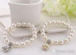 Diseñador de moda de lujo Pulsera con cuentas de perlas Joyas del encanto nupcial para las mujeres Lady Girl Beautiful Elastic Bracelet Jewellry