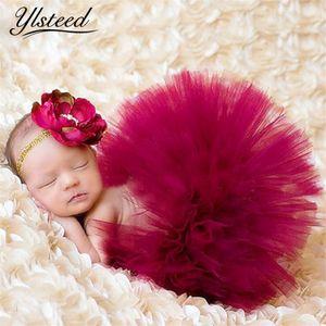 Neugeborenen Tutu Rock Infant Princess Kostüm Outfit für Fotoaufnahmen Baby Tutu Rock Stirnband Neugeborenen Fotografie Zubehör