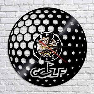 1piece pelota de golf registro reloj de pared creativo de los tiempos modernos relojes de Personlized arte hecho a mano del arte de la decoración del Golf Club