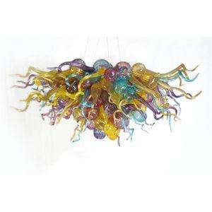 Штабные лампы ручной работы лампы ручной работы маленький размер элегантные художественные украшения многоцветные светодиодные светильники люстры для гостиной