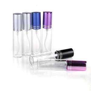MINI 5ML / 10ML معدنية فارغة العطور زجاج زجاجة إعادة الملء بخاخات بخاخ زجاجات DHL / EMS / فيديكس شحن مجاني 10 الألوان