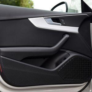 Portes de voiture Anti Kick Plaque Protection Stickers Fibre de carbone pour Audi A3 Q3 Q5 Q7 Auto Auto Intérieur Accessoires