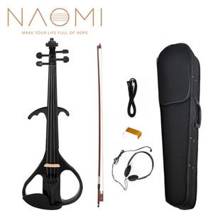 Оптовая электрическая Скрипка баланс звук полный размер 4/4 электрическая Скрипка Скрипка Скрипка твердой древесины электрическая Скрипка новый набор черный стиль 3