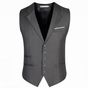 Men's Trendy Business Dress Vest Suit Slim Fit Tuxedo Waistcoat Male Vest Jackets Plus Size 5XL 6XL
