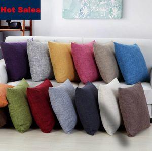 13 Colori Lino Federa di Colore Solido 17.72 Pollici Nap Cuscino Casi Divano Cuscino Letto Gettare Pillow Cases Custom Made
