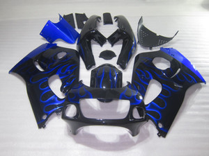 SUZUKI GSXR600 용 페어링 키트 GSXR750 SRAD 1996-2000 블루 블랙 GSXR 600 750 96 97 98 99 00 페어링 DX22