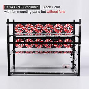 Stackable Computer Fame 14 Grafikkarte GPU USB PCI-E Kabel Computergehäuse BTC LTC ETC Coin Mining Rig Frame Server Chassis