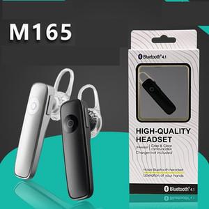 M165 sans fil stéréo Bluetooth mini-écouteurs handfree sans fil Bluetooth universel 100PCS / LOT papier emballage au détail