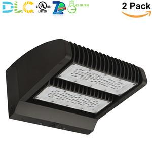 مصباح الجدار القابل للتدوير 80W LED بزاوية 270 درجة مصباح الجدار القابل للإضاءة الخارجية IP65 5000K Daylight 10400lm UL DLC (2 Pack)