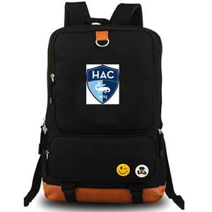 Le Havre rucksack Le club doyen AC daypack HAC Football club computer interlayer schoolbag Soccer day pack Sport school bag Outdoor backpack
