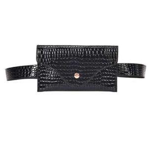Bolso de la cintura de las mujeres Paquetes de la cintura Bolsos Cinturón de cuero Bolsa Pequeña moda de cocodrilo piedra Heuptas wandelen groot pochete impermeable